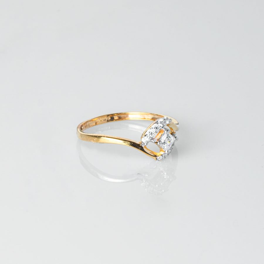 22ct Gold Swarovski Zirconia Dress Ring LR17006