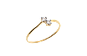 22ct Yellow Gold Cubic Zirconia Engagement Ring (LR70004)