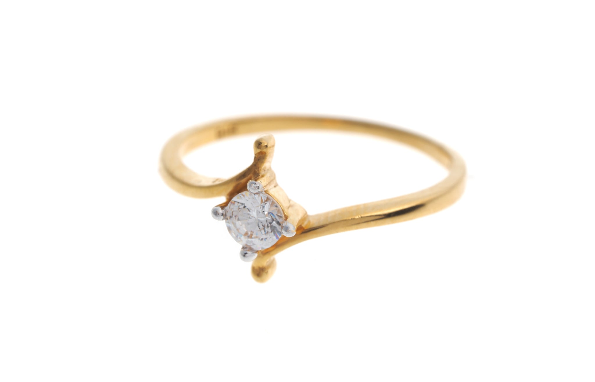 22ct Gold Cubic Zirconia Engagement Ring LR70033