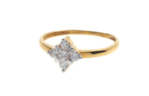 22ct Yellow Gold Cubic Zirconia Dress Ring (LR70070)