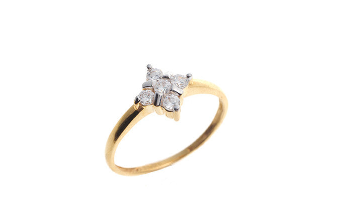 22ct Gold Cubic Zirconia Dress Ring LR70070