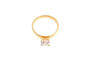 22ct Gold Cubic Zirconia Engagement Ring (LR7015)