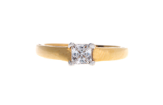22ct Yellow Gold Cubic Zirconia Engagement Ring (LR70749_B)