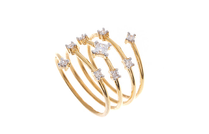 22ct Gold Cubic Zirconia Dress Ring (LR71170)