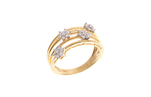 22ct Gold Cubic Zirconia Dress Ring (LR9080)