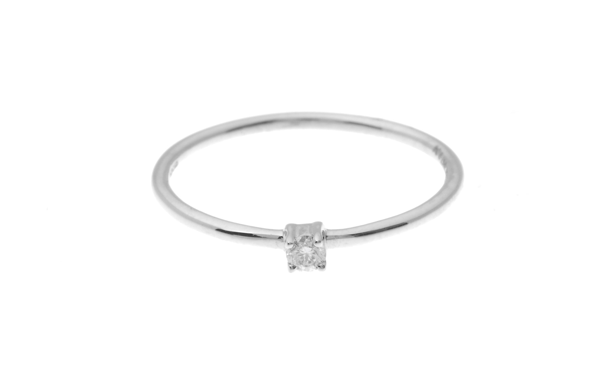 18ct White Gold Diamond Engagement Ring MCS1861