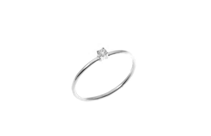 18ct White Gold Diamond Engagement Ring (MCS1863)
