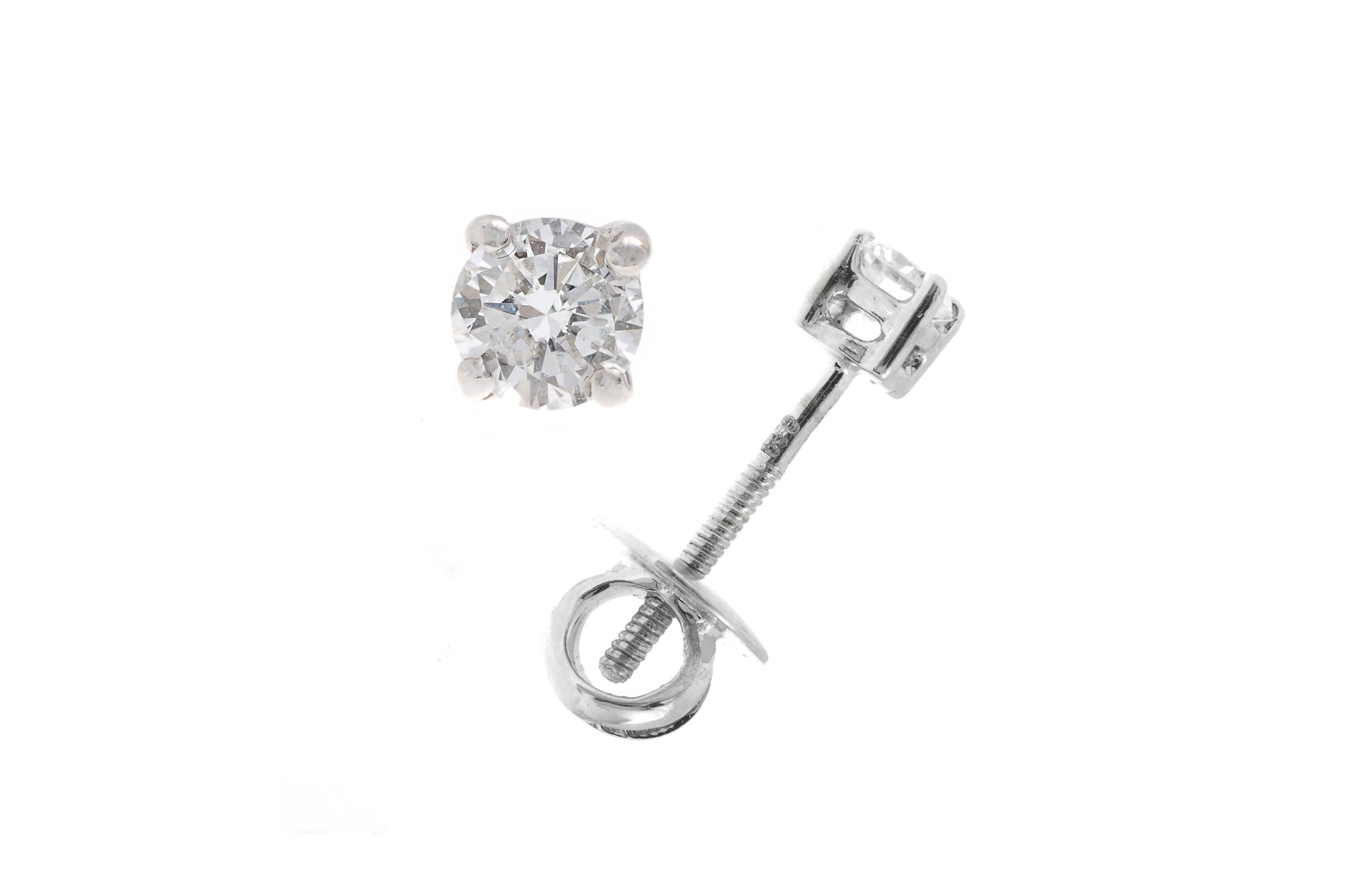 18ct White Gold 0.3ct Diamond Stud Earrings (MCS2263)