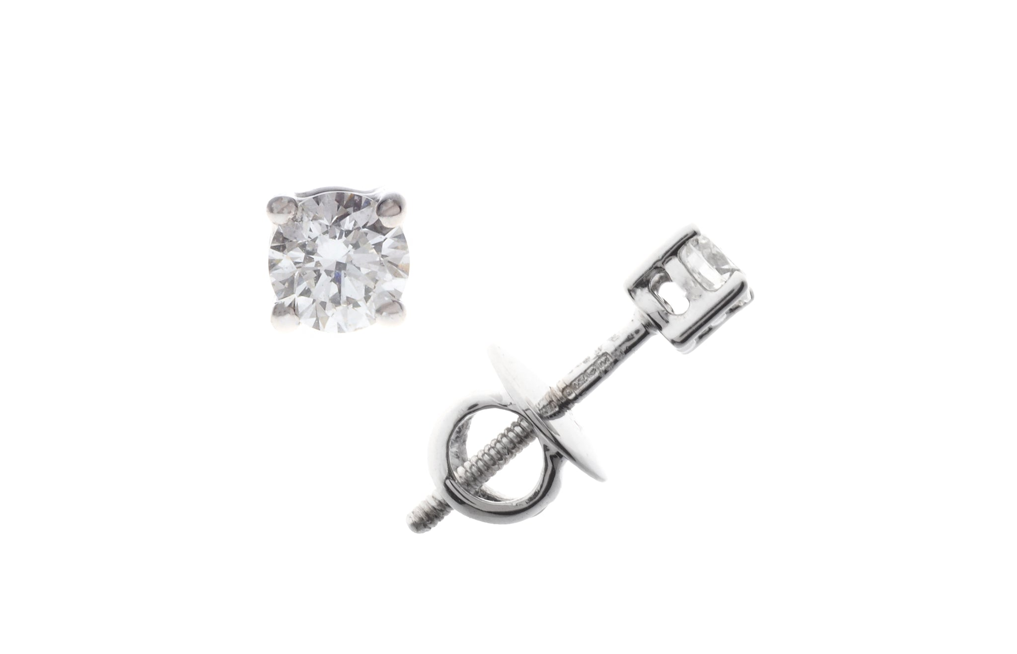 18ct White Gold 0.24ct Diamond Stud Earrings (MCS2267)