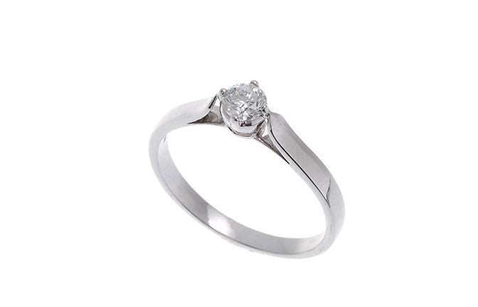 18ct White Gold Diamond Engagement Ring, Minar Jewellers - 4