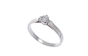 18ct White Gold Diamond Engagement Ring, Minar Jewellers - 1