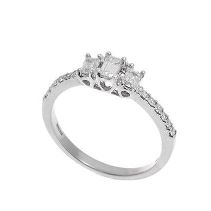 18ct White Gold Diamond Engagement Ring (MCS2293)