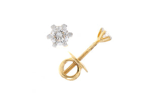 18ct White / Yellow Gold 0.1ct Diamond Stud Earrings (G5787/8/9), Minar Jewellers - 1
