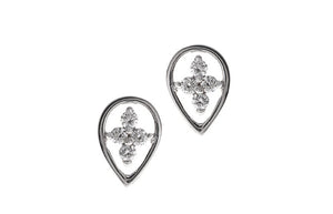 18ct White Gold 0.12ct Diamond Stud Earrings (MCS2489)