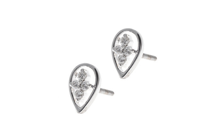 18ct White Gold 0.12ct Diamond Stud Earrings MCS2489