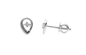 18ct White Gold 0.05ct Diamond Stud Earrings (MCS2638)