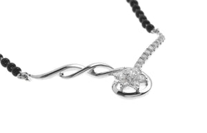 18ct White Gold Diamond Mangal Sutra Necklace MCS2708