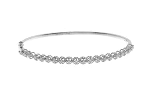 18ct White Gold Diamond Bangle with clasp (MCS2721)
