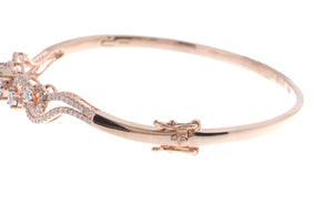 18ct Rose Gold Diamond Bangle with clasp (MCS2724) - Clasp