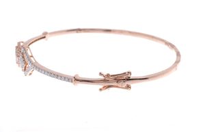 18ct Rose Gold Diamond Bangle with clasp (MCS2731) - Clasp