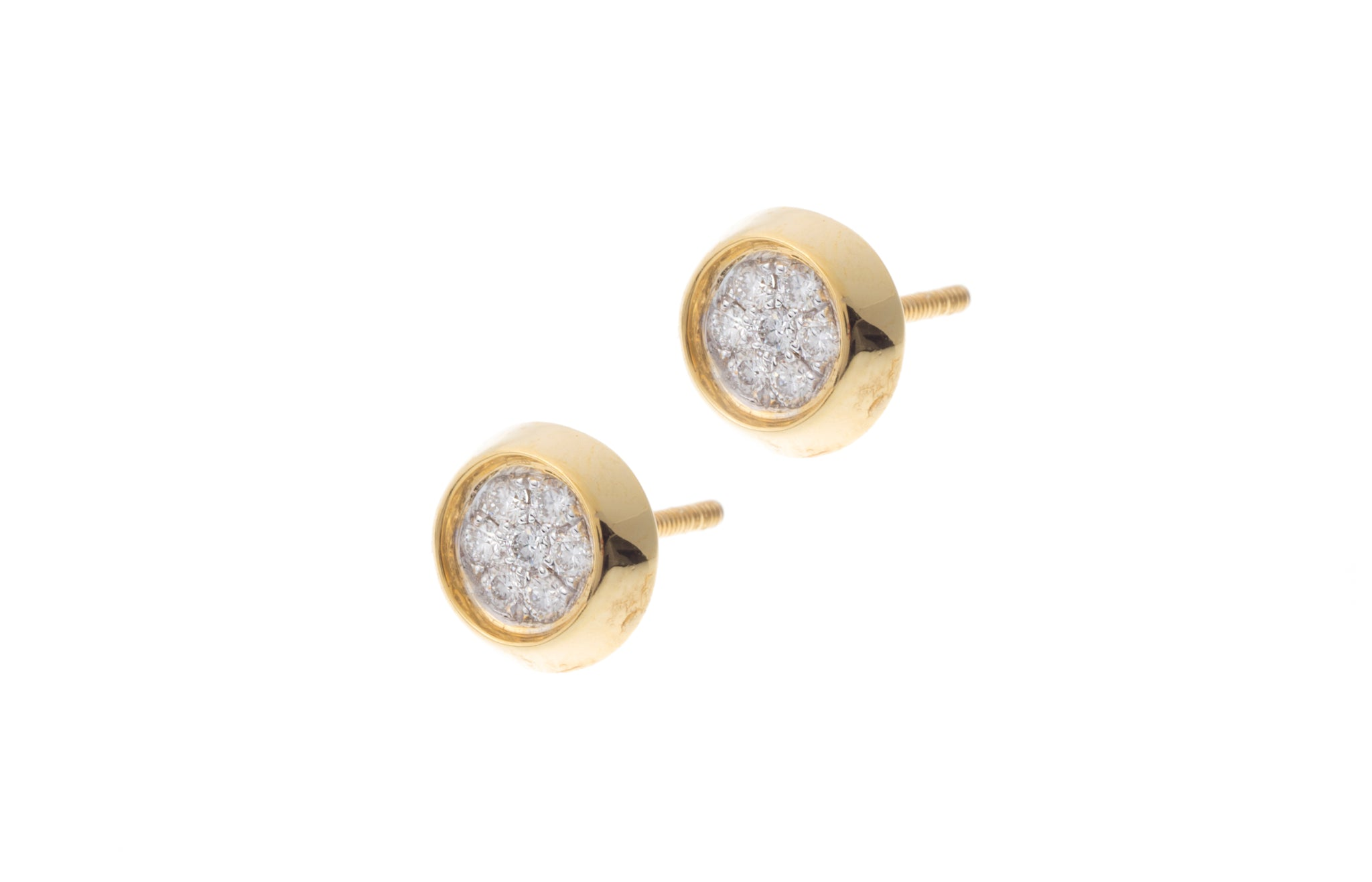 18ct Yellow Gold Diamond 'Flower Design' Earrings MCS2733