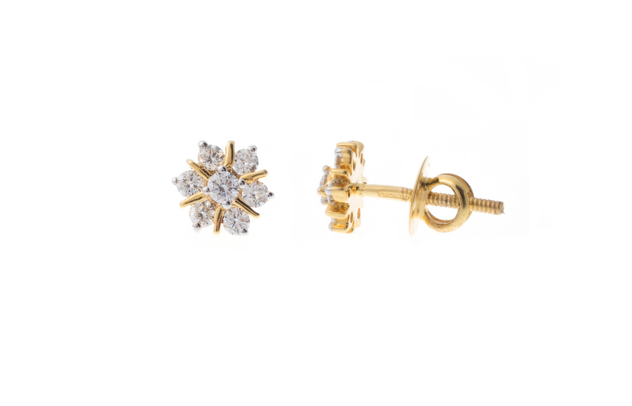 18ct Yellow Gold Diamond Earrings MCS2739