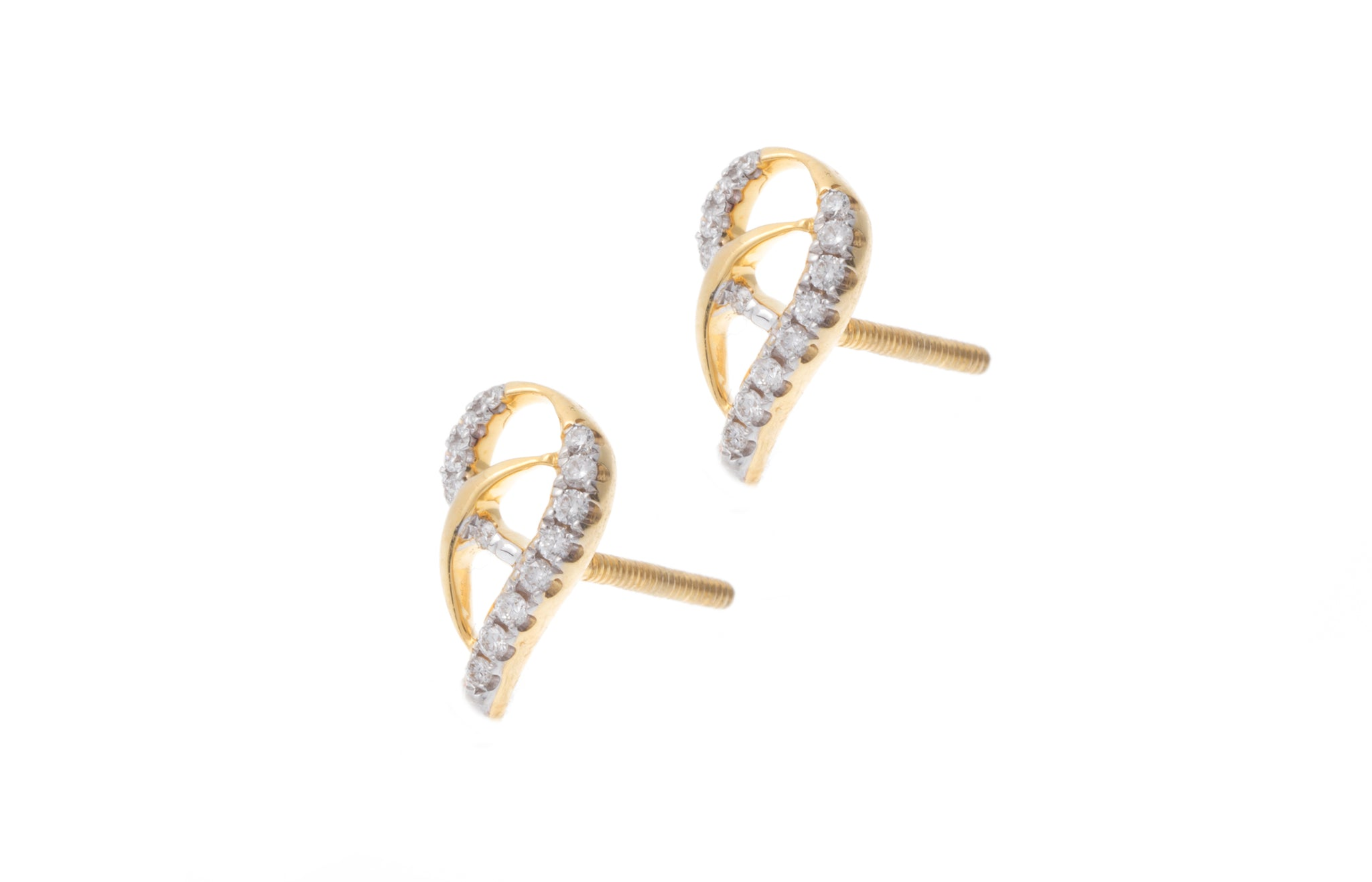 18ct Yellow Gold Diamond Earrings MCS2746