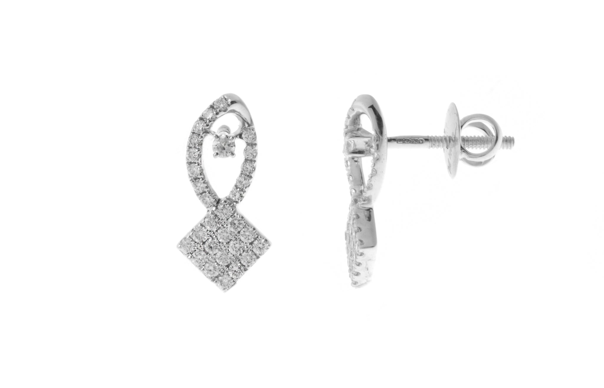18ct White Gold Diamond Ear Studs MCS2749