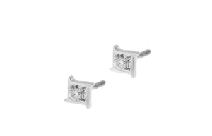 18ct White Gold 0.10ct Diamond Stud Earrings (MCS2752)