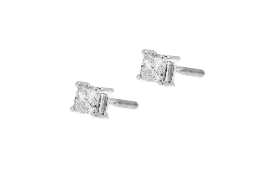 18ct White Gold 0.28ct Diamond Stud Earrings (MCS2762)