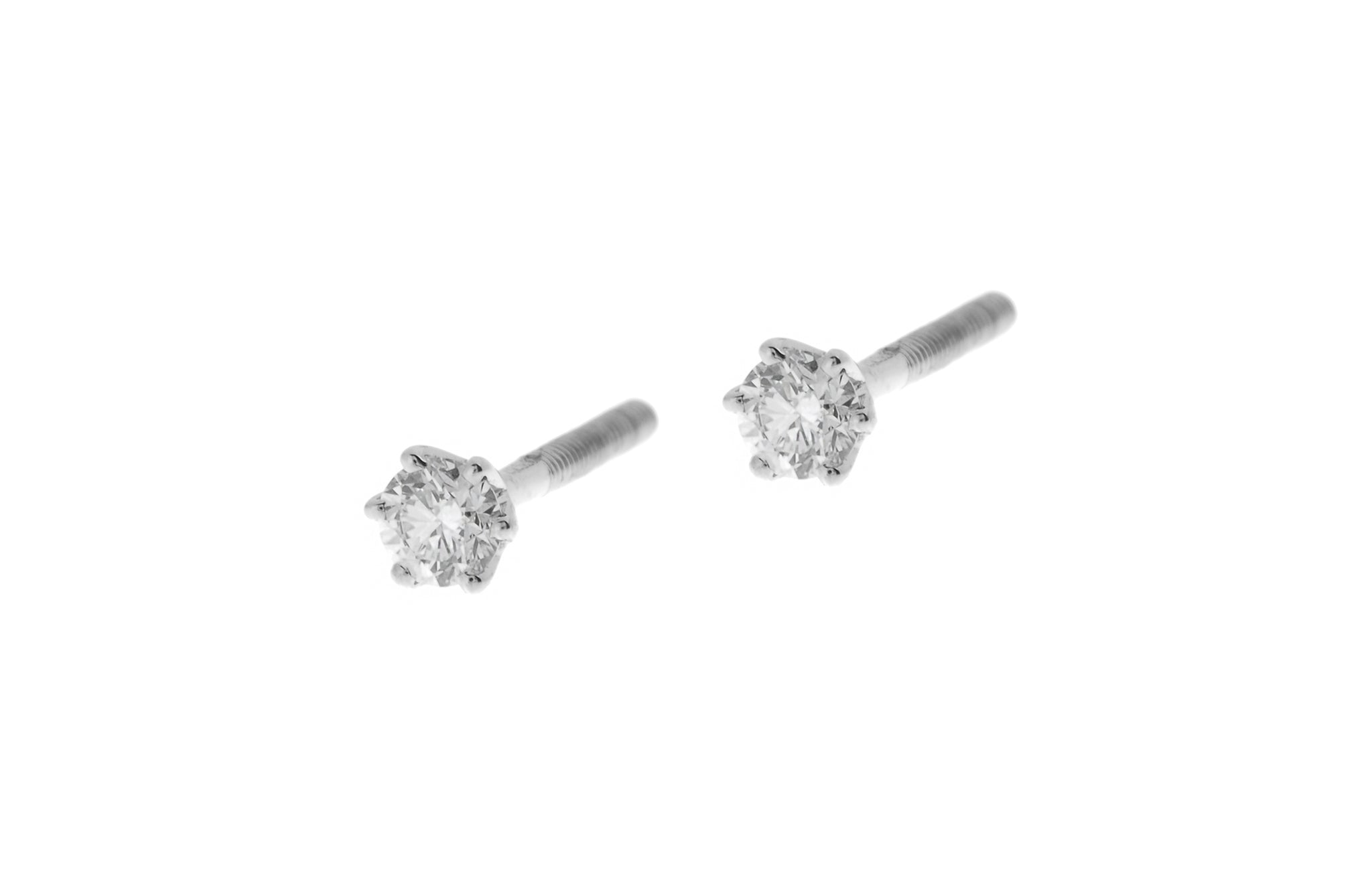 18ct White Gold 0.14ct Diamond Stud Earrings MCS2774