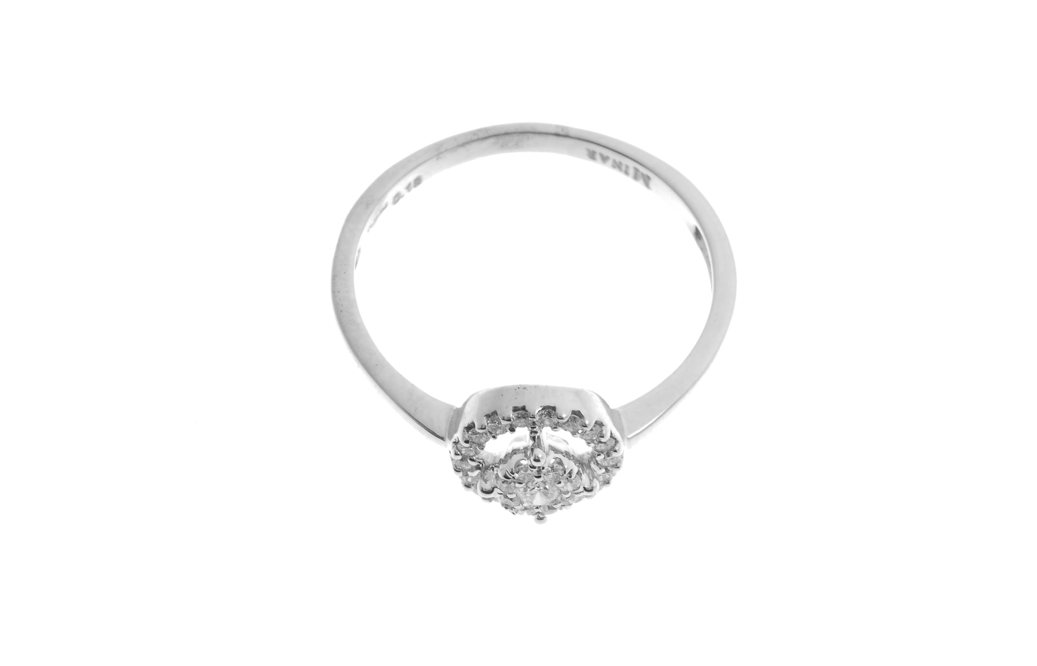 18ct White Gold Diamond Cluster Dress Ring MCS2779