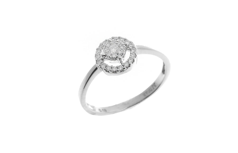 18ct White Gold Diamond Cluster Dress Ring (MCS2779)