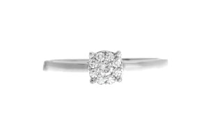 18ct White Gold Diamond Cluster Dress Ring (MCS2781)