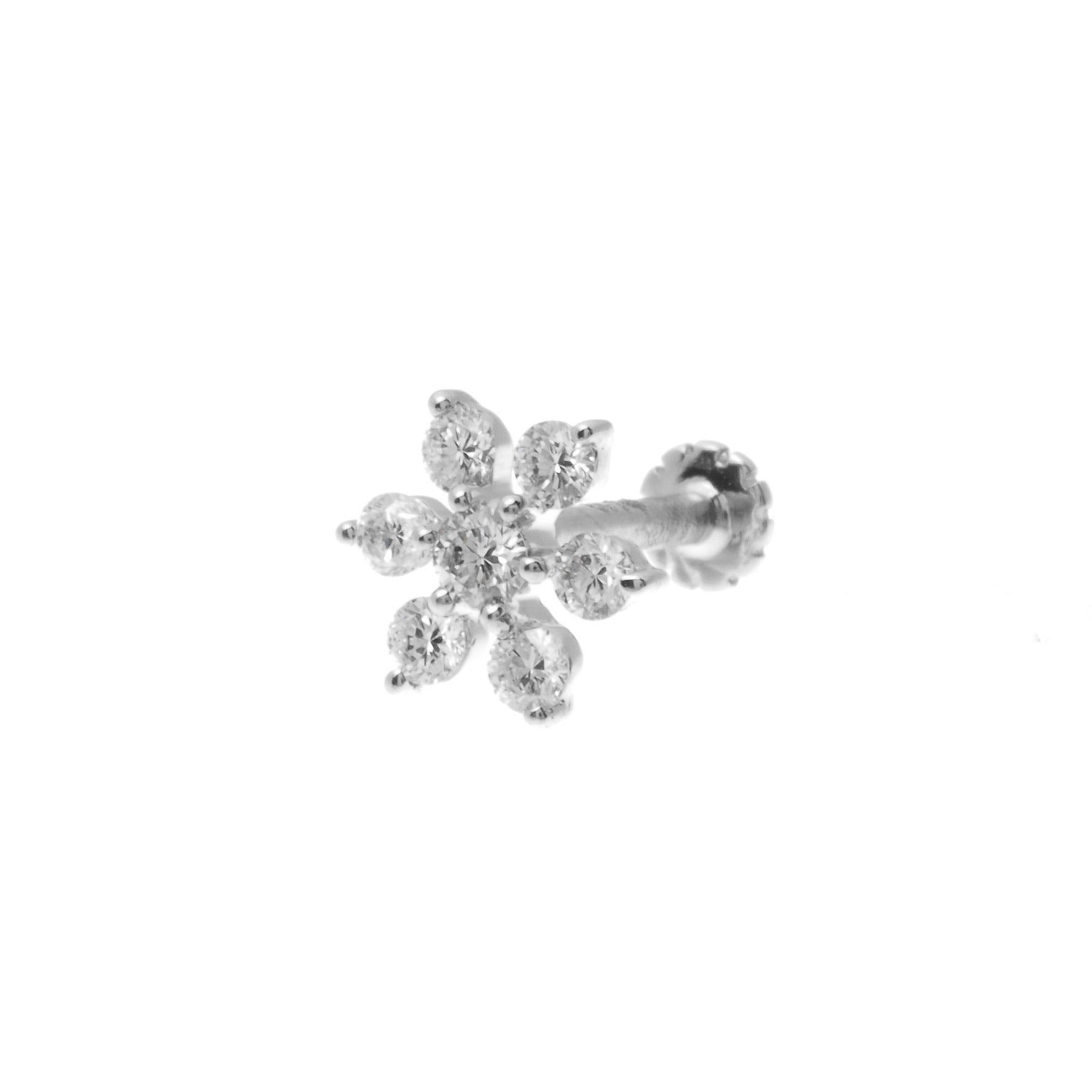 18ct Gold Cluster Diamond 0.15ct Screw Back Nose Stud MCS2789