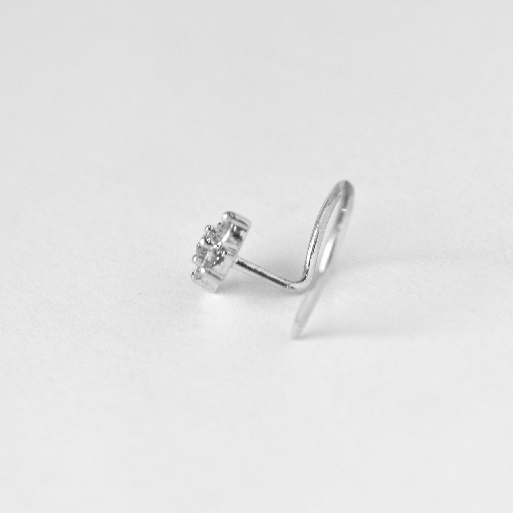 18ct Gold 0.08ct Diamond Cluster Wire Back Nose Stud MCS2796