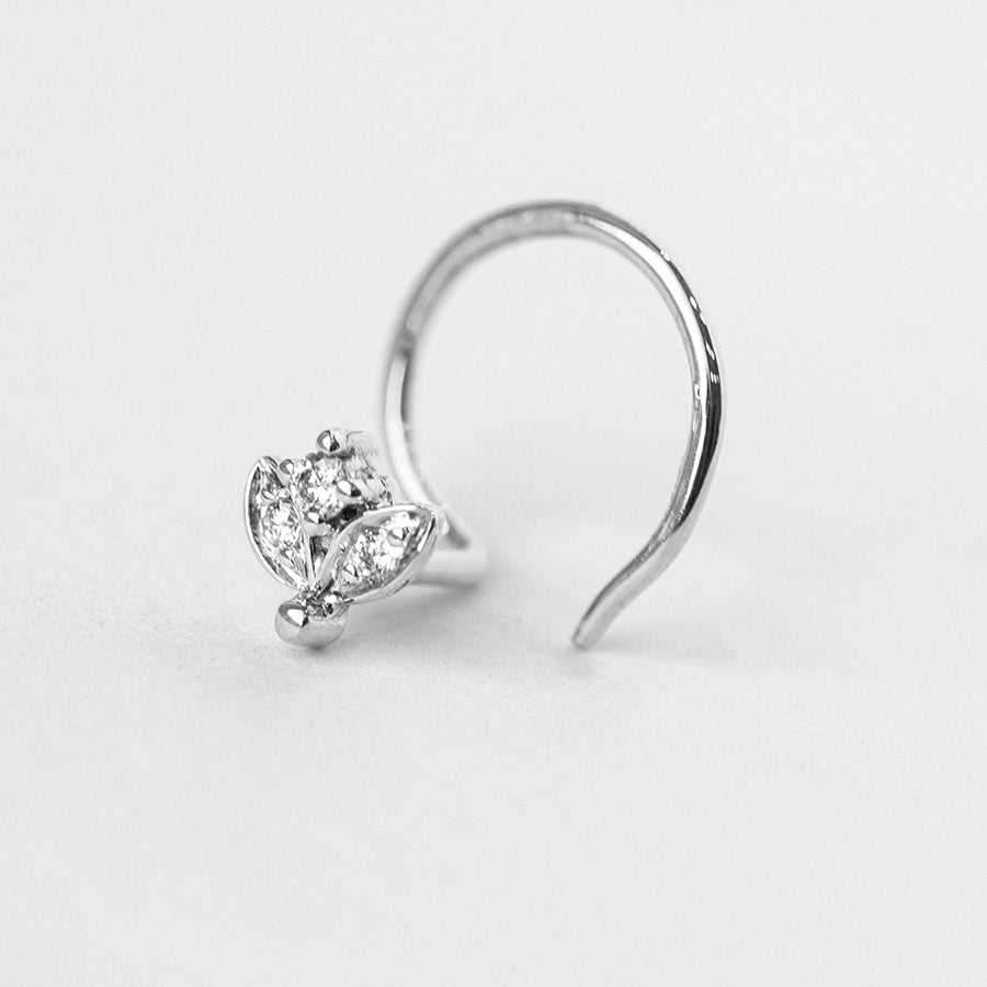 18ct Gold 0.02ct Diamond Cluster Wire Back Nose Stud MCS2798