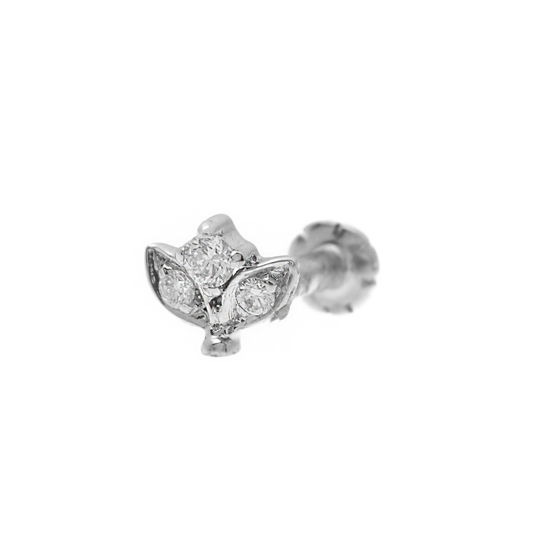 18ct Gold 0.03ct Cluster Diamond Screw Back Nose Stud (MCS2798)