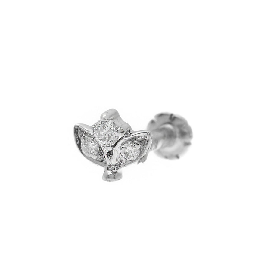 18ct Gold 0.03ct Cluster Diamond Screw Back Nose Stud MCS2798