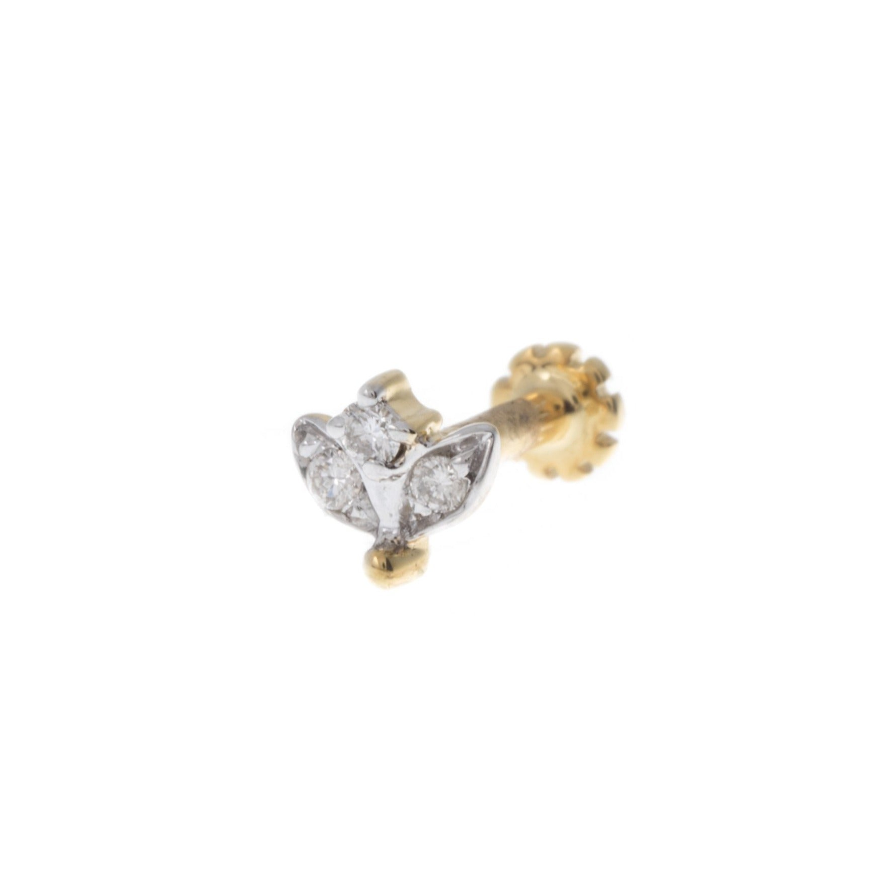 18ct Gold 0.02ct Cluster Diamond Screw Back Nose Stud MCS2798