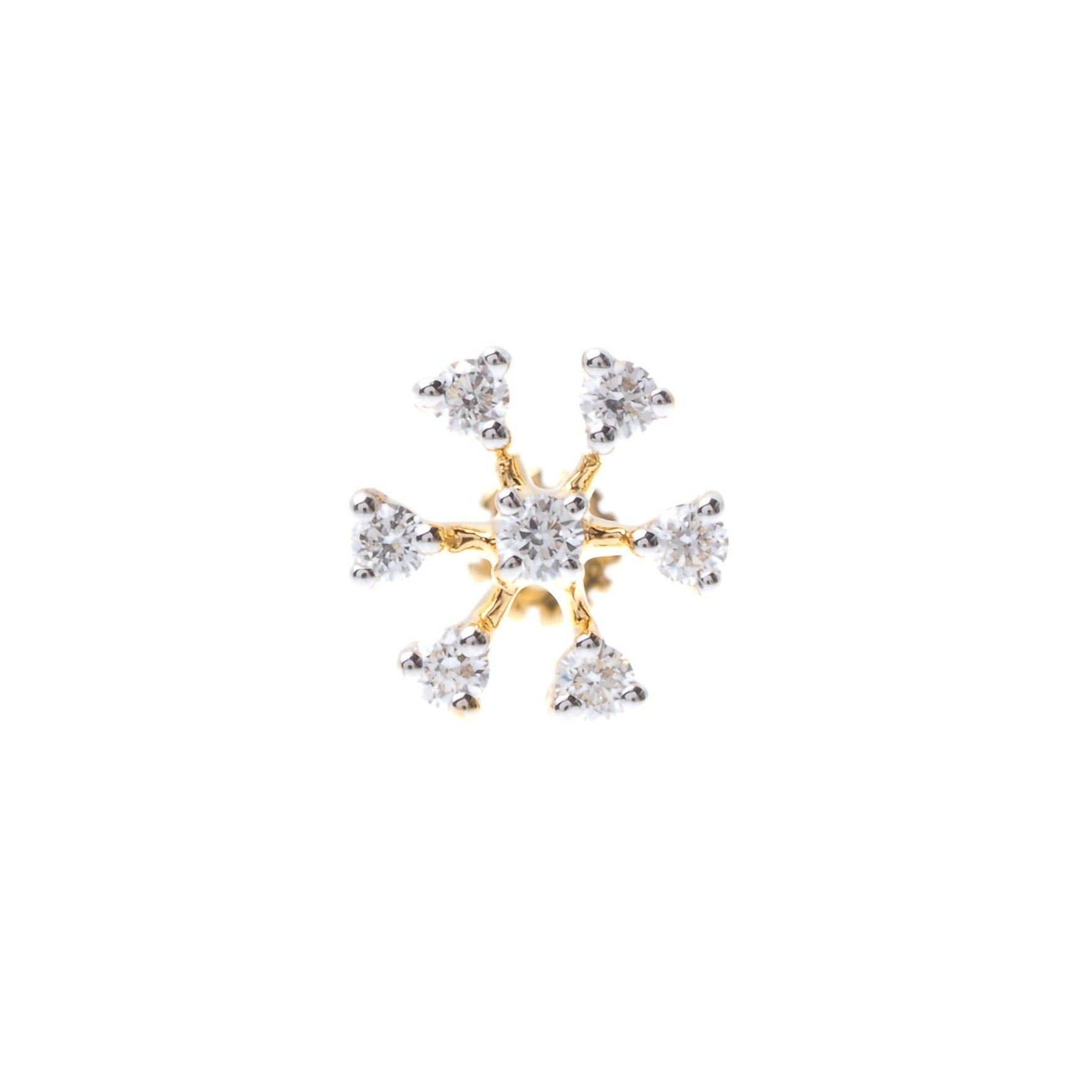18ct Gold 0.07ct Diamond Cluster Screw Back Nose Stud (MCS2812)