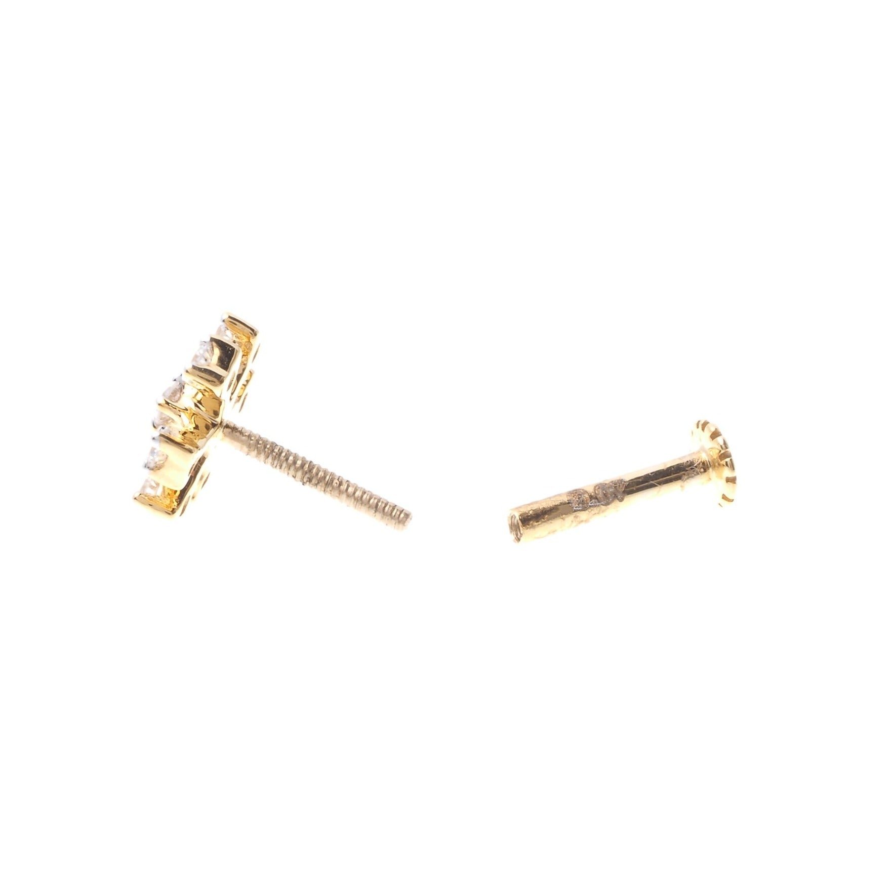 18ct Gold 0.07ct Diamond Cluster Screw Back Nose Stud MCS2812
