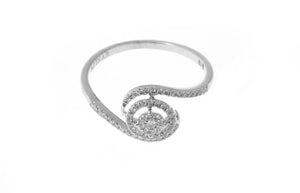 18ct White Gold Diamond Cluster Dress Ring (MCS2826)