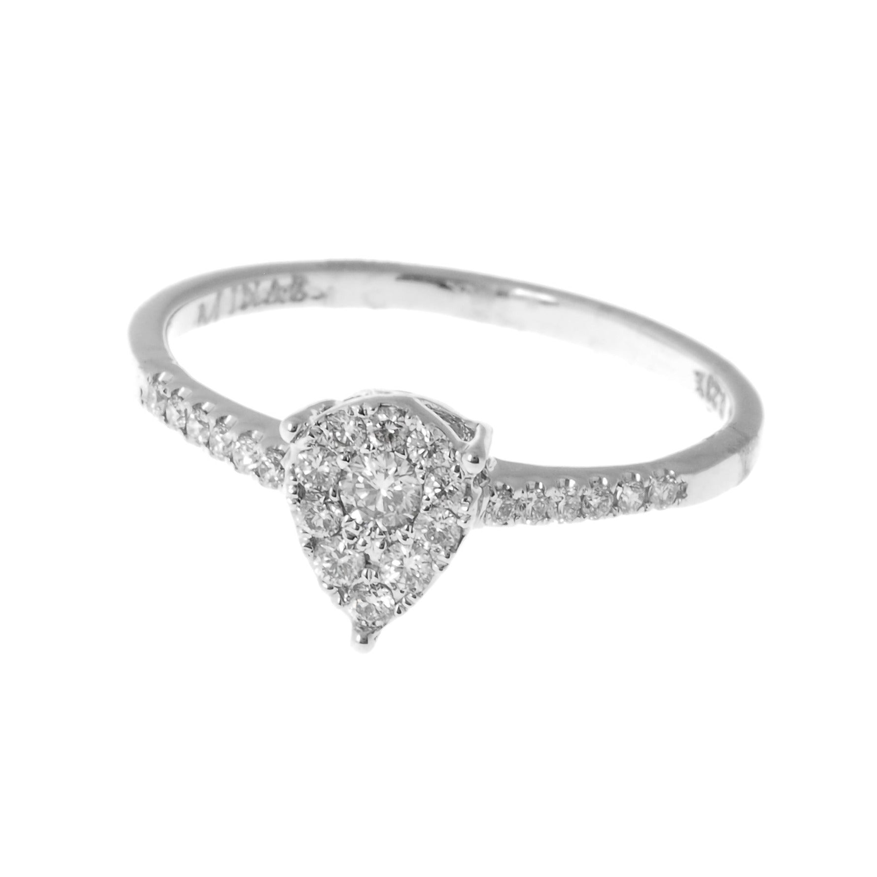 18ct White Gold Diamond Cluster Dress Ring (MCS2827)
