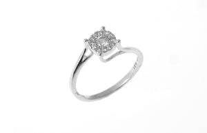 18ct White Gold Diamond Cluster Dress Ring (MCS2828)