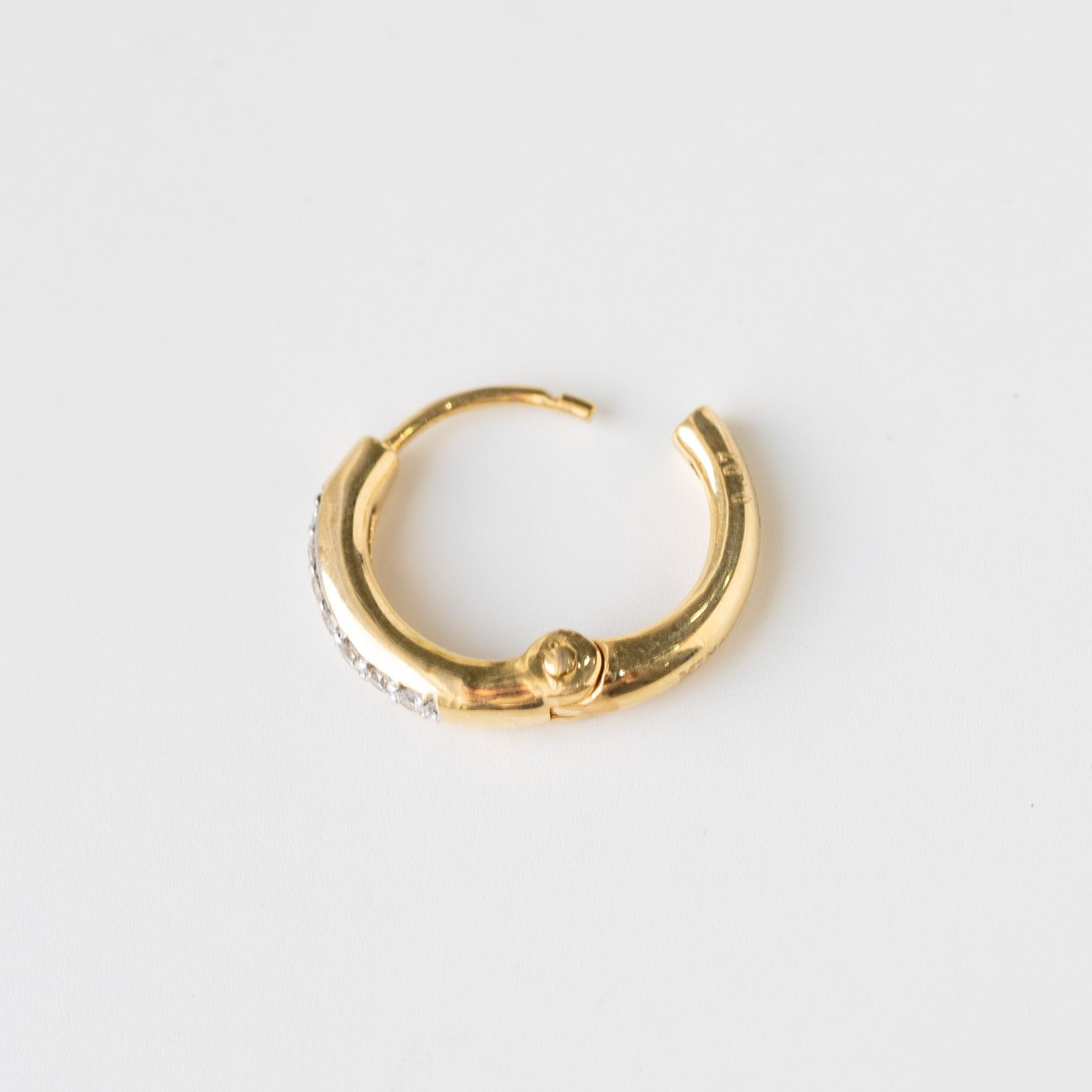 Diamond Nose Ring 18ct Yellow Gold MCS3315
