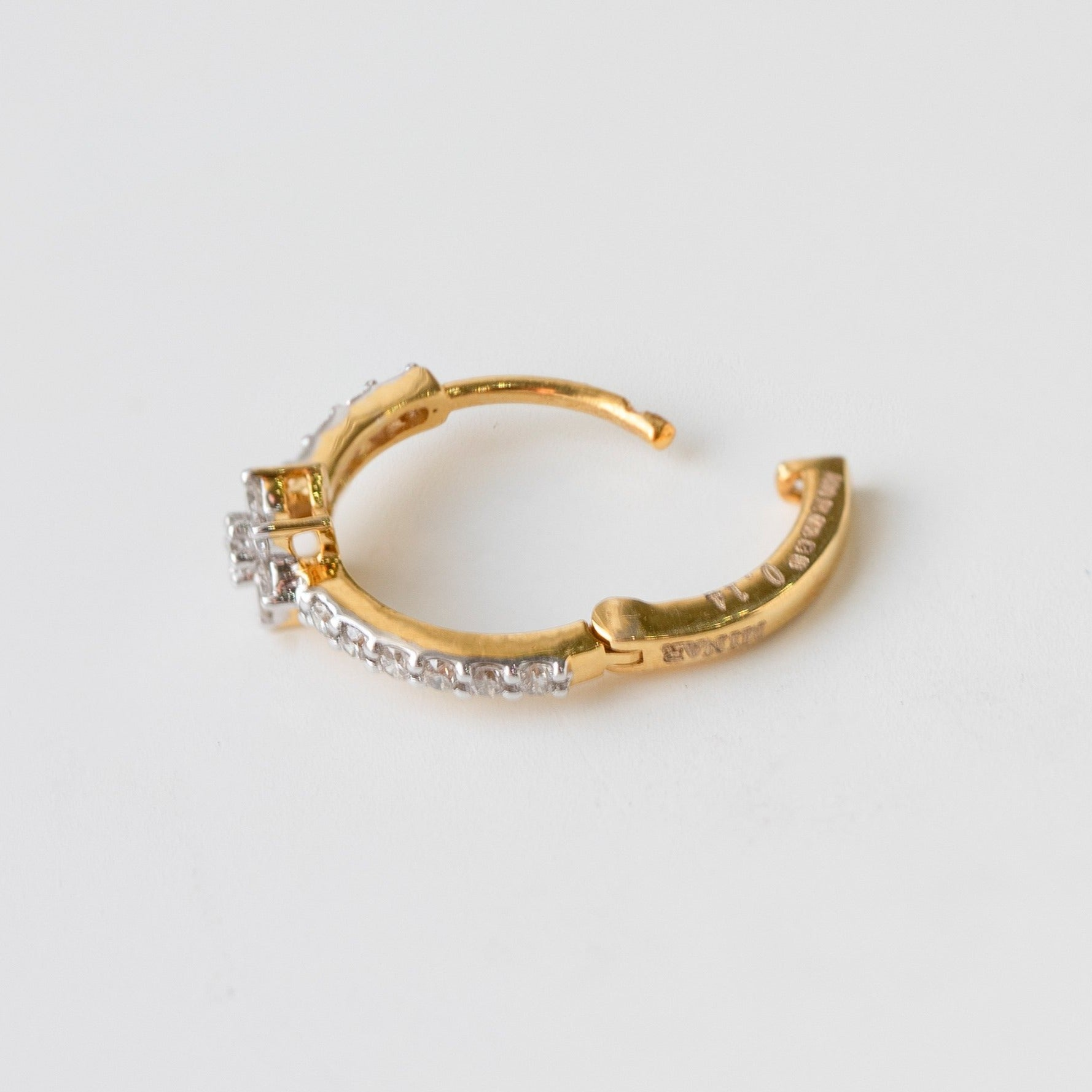 Diamond Nose Ring 18ct Yellow Gold MCS3317