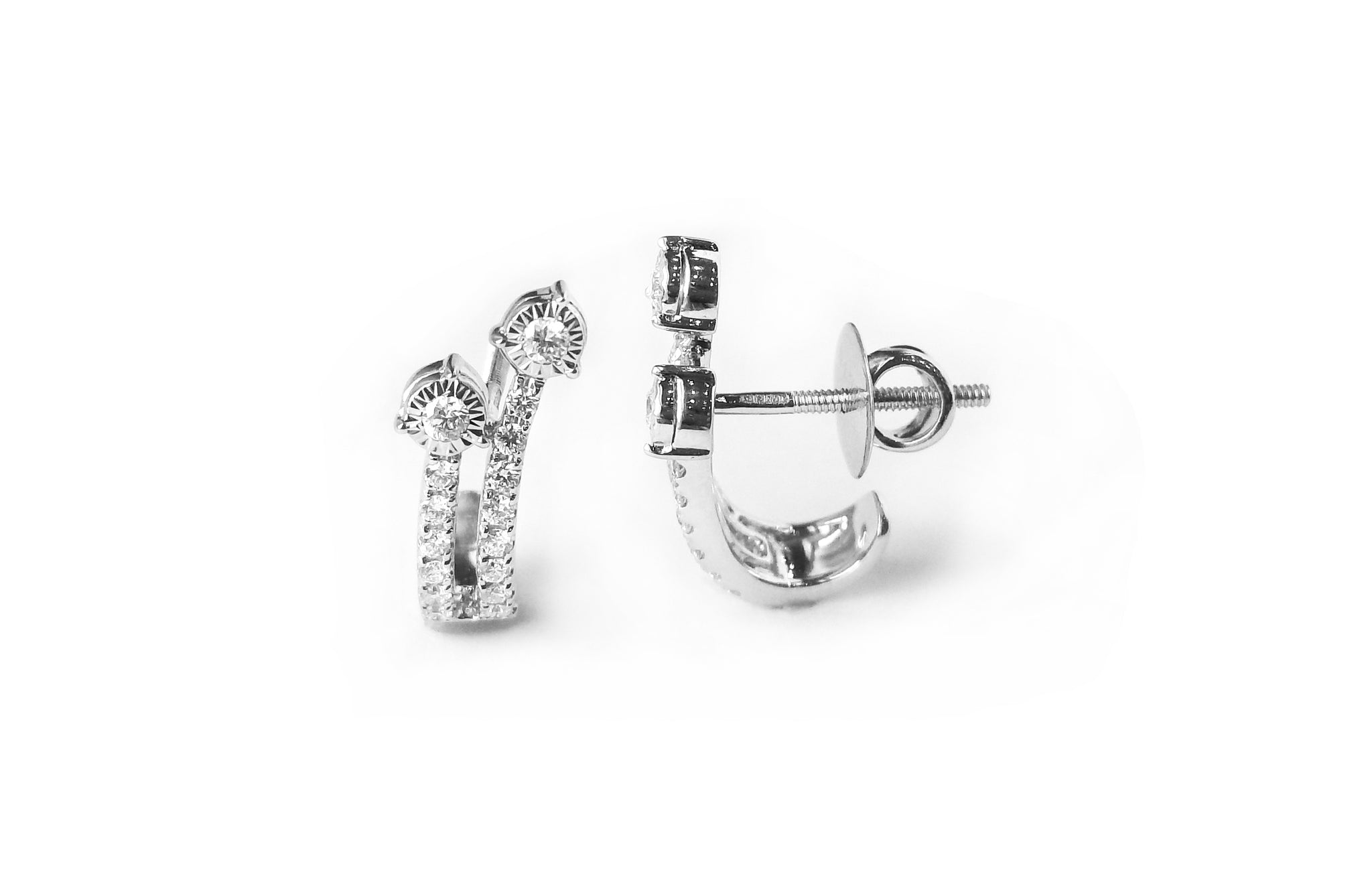 Diamond White Gold Stud Earrings MCS3615