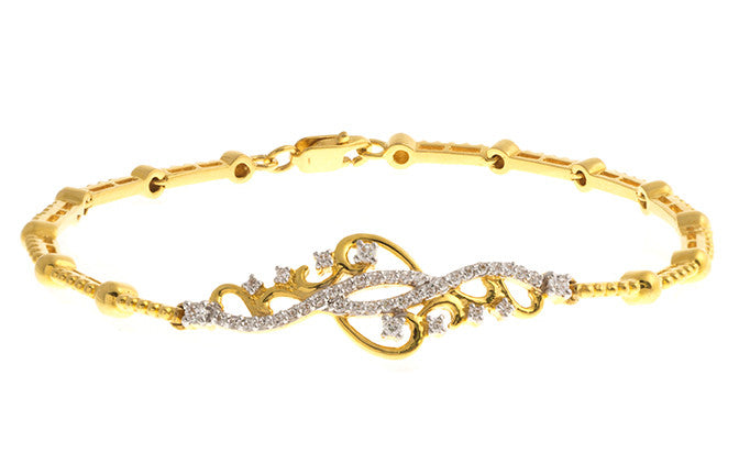 22ct Gold Bracelet set with Swarovski Zirconias (14.2g) LBR-1128