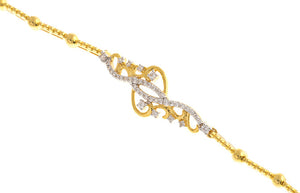 22ct Yellow Gold Cubic Zirconia Ladies Bracelet (14.2g) (LBR-1128)
